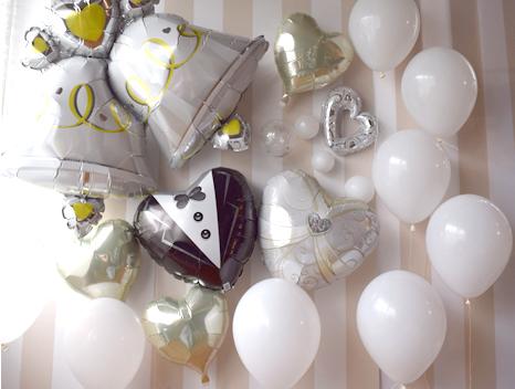 結婚式のお祝いバルーン