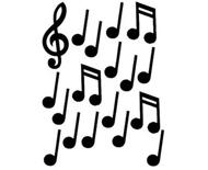 カットアウトアソート ミュージックノート