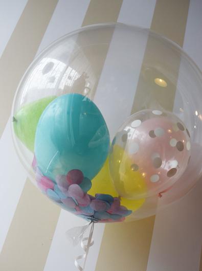 透明バルーン 小さな風船4個入り