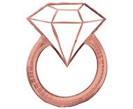 ブラッシュダイヤモンドリング